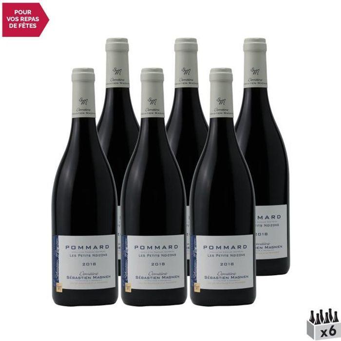 Pommard Les Petits Noizons Rouge 2018 - Lot de 6x75cl - Domaine Sébastien Magnien - Vin AOC Rouge de Bourgogne