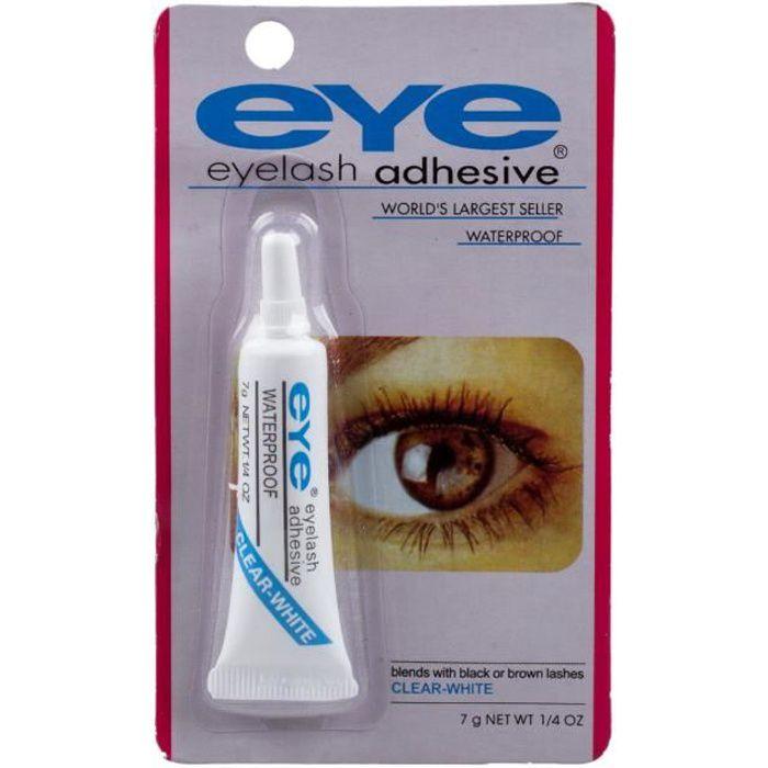 EYE Colle adhesif pour les faux cils colle de maquillage impermeables colle a levres pour les yeux (blanc clair)
