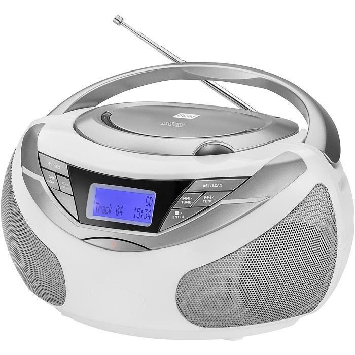 RADIO CD - RADIO CASSETTE - FM Dual Dab-P 150 Boombox avec Radio num&eacuterique (Lecteur CD MP3), Radio Dab+-UKW, AUX-in, Son 345