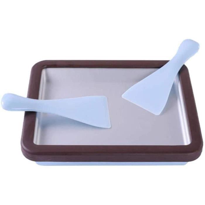 Ice Cream Roll Maker, Machine À Crème Glacée Rectangle, Machine à crème glacée Rectangle avec 2 spatules, Machine à crème glacé A348
