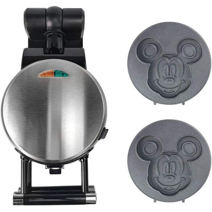 BAS Gaufrier avec Plateaux De Cuisson Antiadhésifs Mickey, Sandwich Toastie Maker, Chauffage Rapide, Breamaker, Cuisson à 360 °, Con