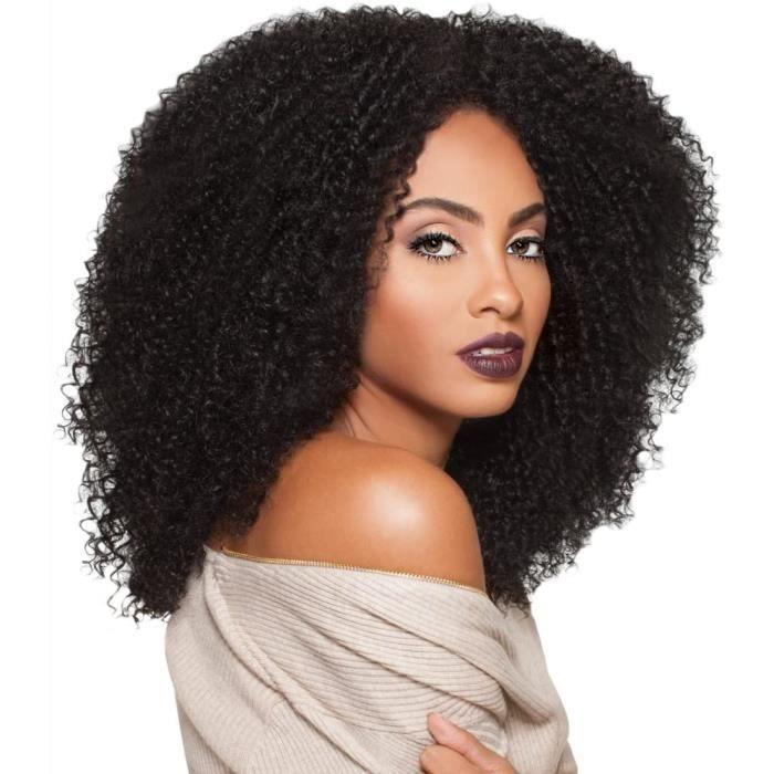 PERRUQUE Perruque de cheveux naturels afro cr&eacutepus156