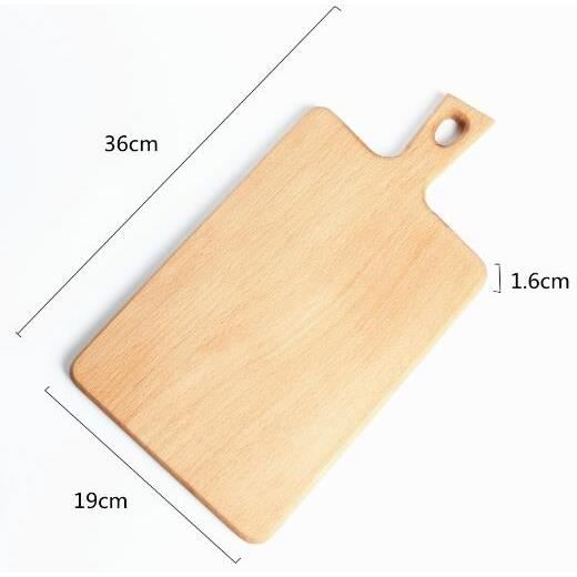 Planche à découper,Planche à découper en bois de hêtre Planche à pain, planche de service - Type Medium Cutting Board