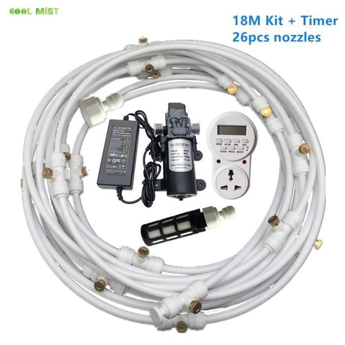 Pulvérisateur,Pompe électrique à diaphragme, 12V, 8M 18M, système de dépoussiérage, buse à atomisation - Type 18M White with Tmer