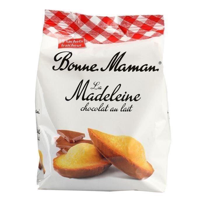 Madeleines au chocolat au lait 300 g BONNE MAMAN