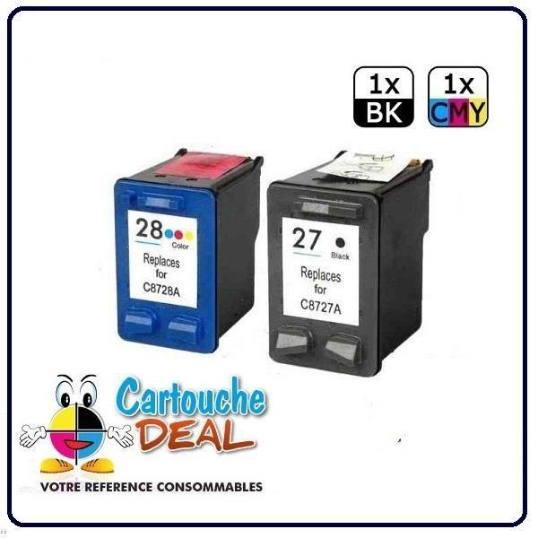 Pack Cartouche générique compatible HP 27 HP 28