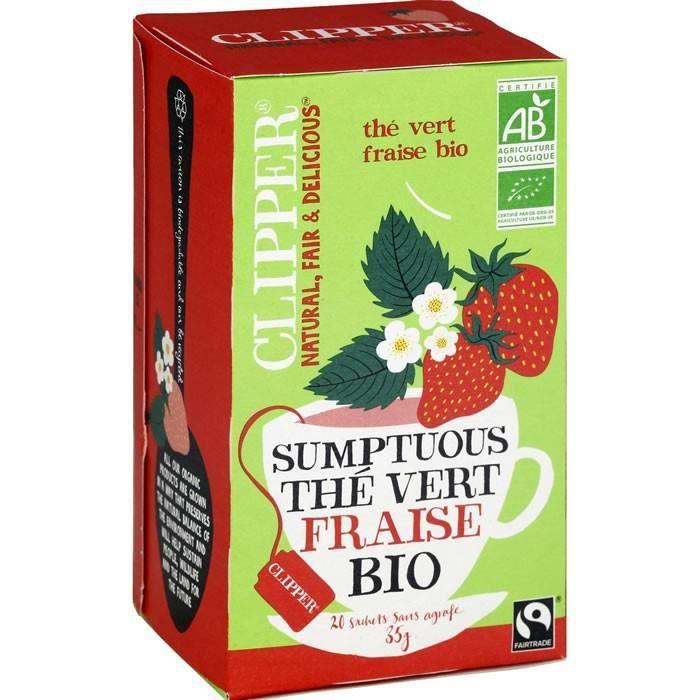 CLIPPER Sumptuous Thé vert fraise bio - 20 Sachets