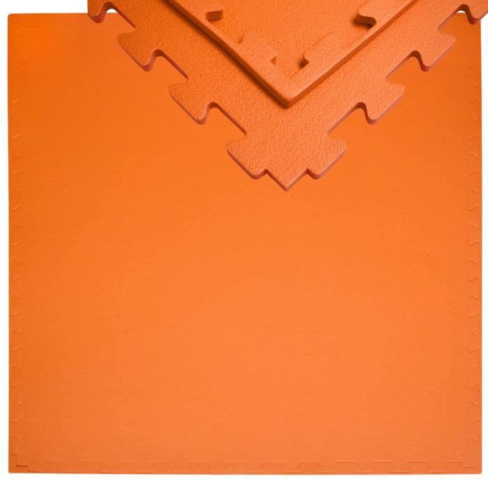 Tapis Puzzle de Fitness 90x90cm incl embouts 12mm Orange
