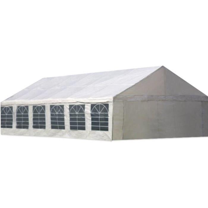 Tente de réception -Celia- en polyéthylène - 72m² - 6 x 12 m