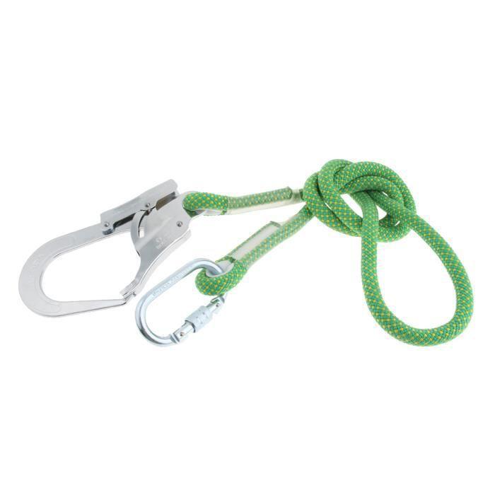 Corde de Sécurité Antichute Cordon de Sauvetage Avec Mousqueton Camping Extérieur 1.6m-corde simple grand crochet