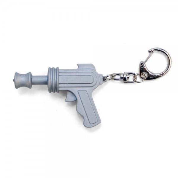 Porte-Clés Pistolet Laser Sonore - Kikkerland Gris
