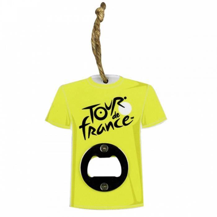 Décapsuleur bois 'Tour de France' maillot jaune - 10x11 cm [R1969]