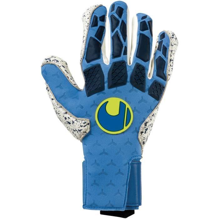 Gants de gardien de but Uhlsport Gyperact Supergrip Half negative cut - bleu nuit/blanc/jaune fluo - 7,5