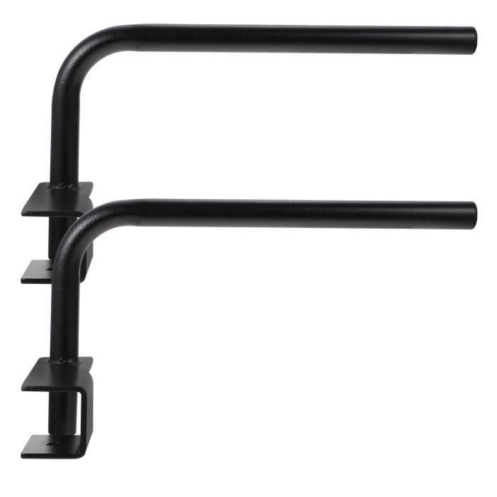 2pcs exquis Dispositifs de formation durables barre pour traction - dip station fitness - musculation