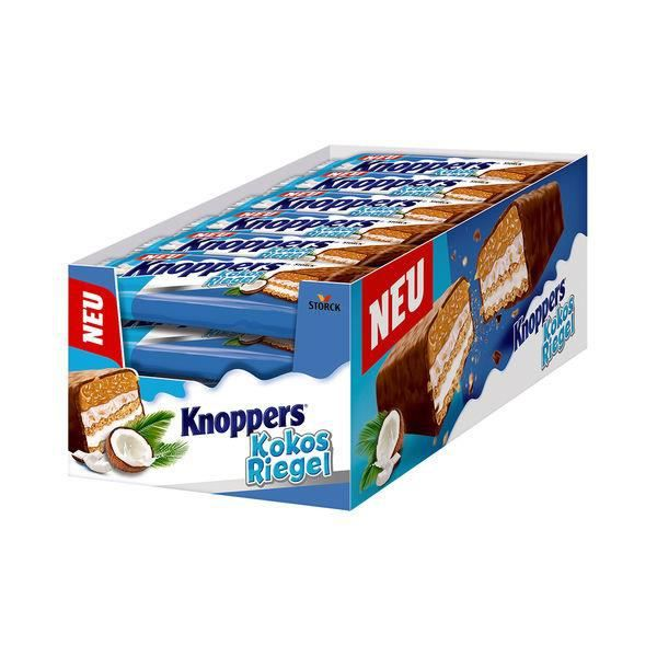 Knoppers Barre de noix de coco 40g (Pack de 24)