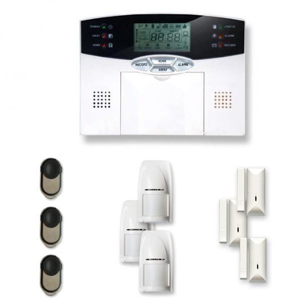 Alarme maison sans fil 3 à 4 pièces MN mouvement et intrusion - Compatible Box