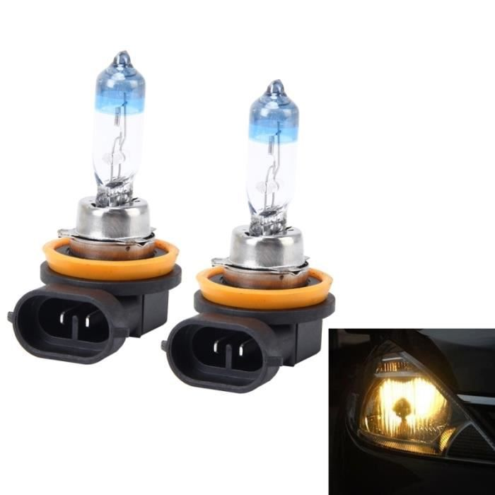 Lumière halogène voiture 2 PCS H8 H11 55W 1700 LM 4300K ampoules Xenon HID Lights Lampes DC 12V