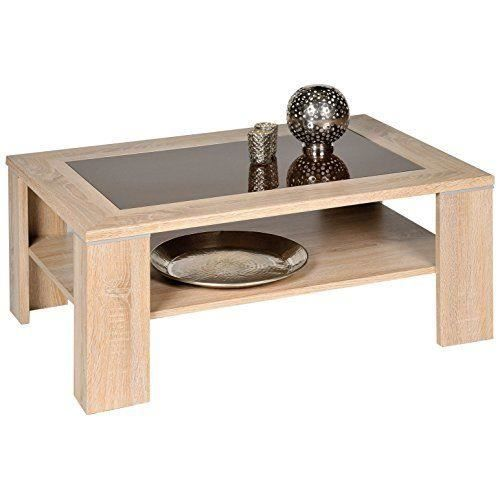 Alfa tische m2263 santos table basse en bois de ch ne for Table basse chene et verre