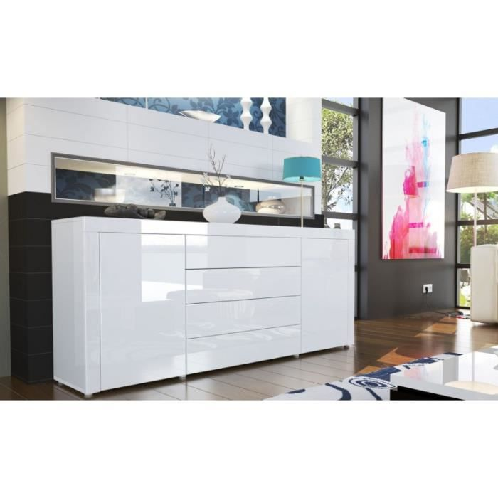 buffet design laqu blanc achat vente buffet bahut buffet design laqu blanc cdiscount. Black Bedroom Furniture Sets. Home Design Ideas