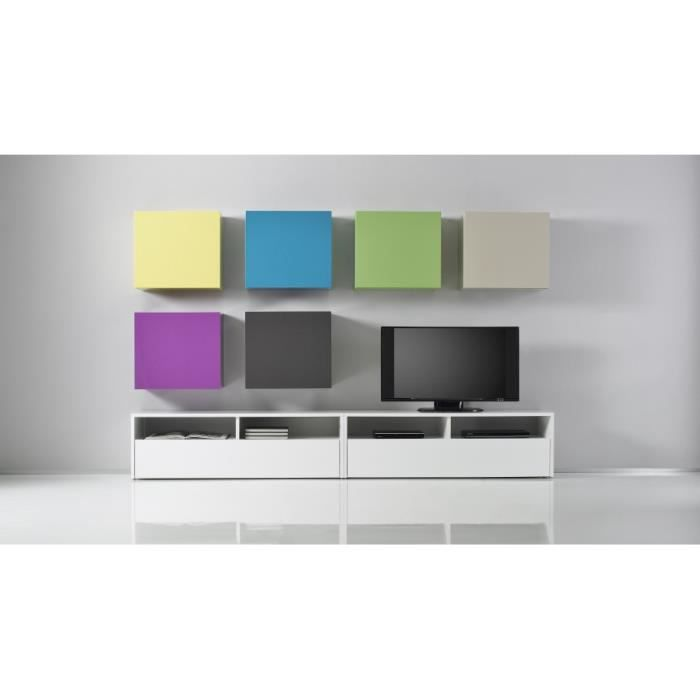 cube de rangement mural pop couleur blanc laqu achat vente etag re murale cube de. Black Bedroom Furniture Sets. Home Design Ideas