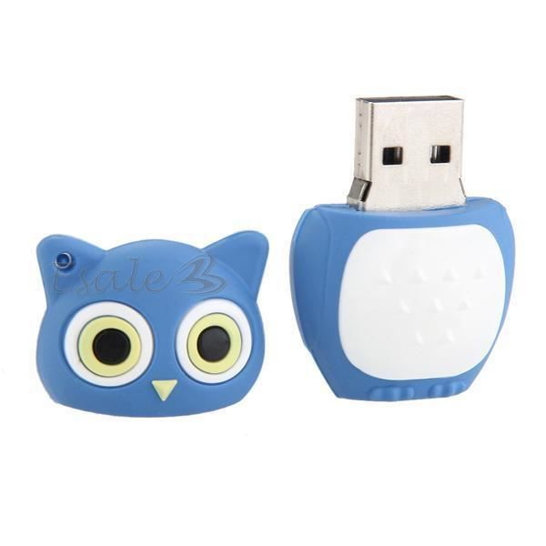 cl clef usb 2 0 capacit 8 gb flash m moire forme hibou. Black Bedroom Furniture Sets. Home Design Ideas