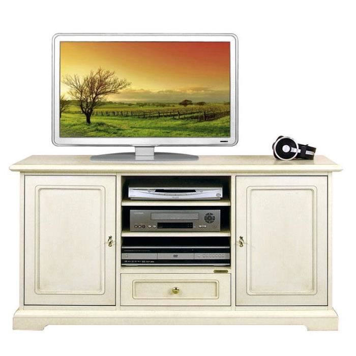 meuble tv blanc 130 cm largeur achat vente meuble tv. Black Bedroom Furniture Sets. Home Design Ideas
