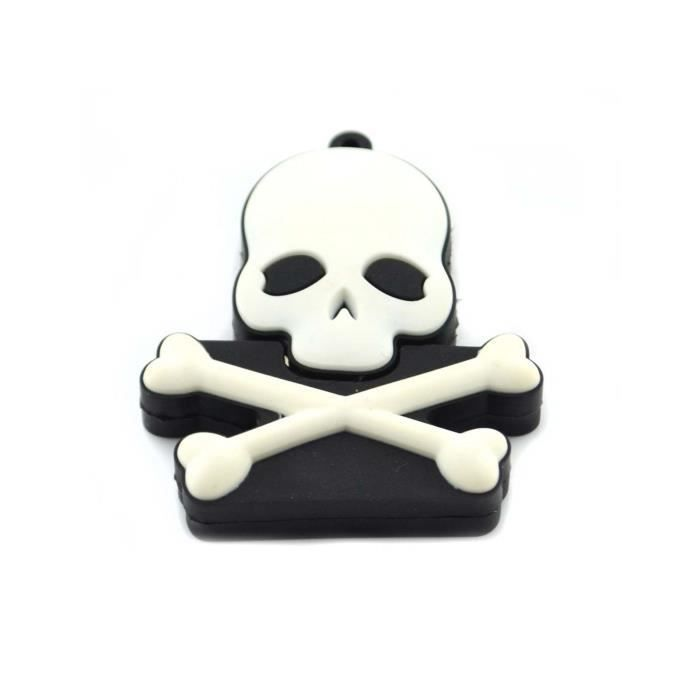 cl usb skull t te de mort fun fantaisie 8go prix. Black Bedroom Furniture Sets. Home Design Ideas