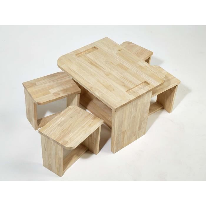 table enfant en bois massif achat vente table et. Black Bedroom Furniture Sets. Home Design Ideas