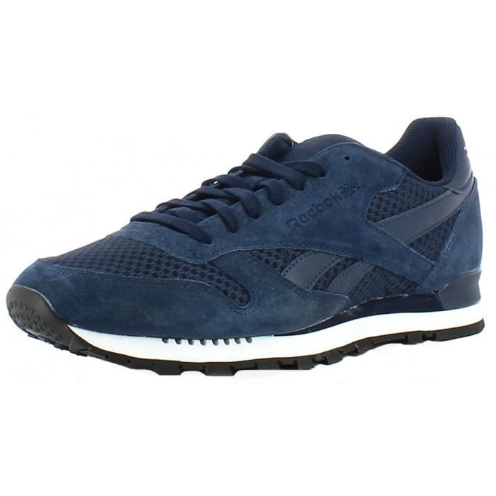 Reebok - Reebok CL Leather Clip Tech Chussures de Sport Bleu