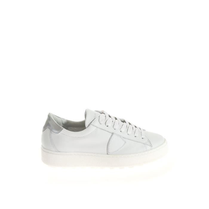 Cuir Uwv6qp Blanc Femme Model Philippe Sloppiness Baskets Vbldv014 P4nOWSU