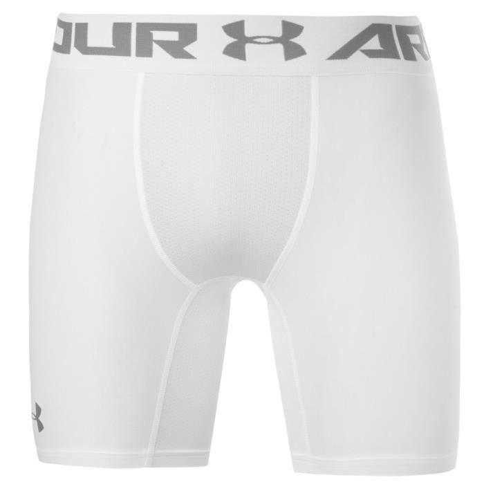 Under Armour Mens Heatgear Core Sous-Vêtement Short Blanc