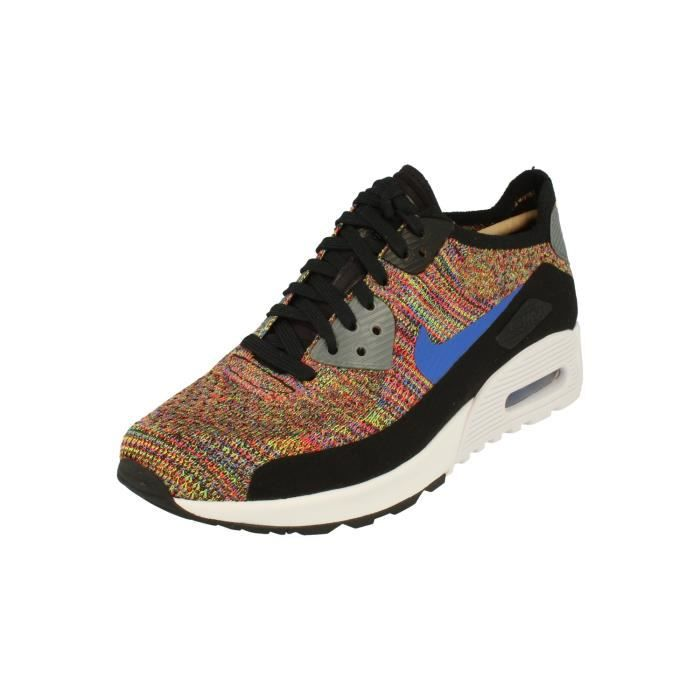 meet ff401 73b5b Nike Femme Air Max 90 Ultra 2.0 Flyknit Running Trainers 881109 Sneakers  Chaussures 001