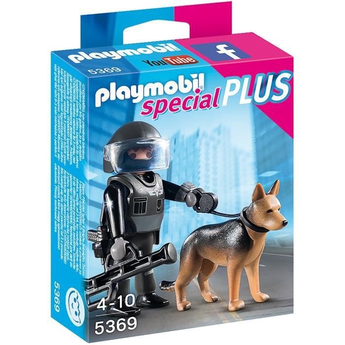 playmobil 5369 policier des forces sp ciales avec chien achat vente univers miniature. Black Bedroom Furniture Sets. Home Design Ideas