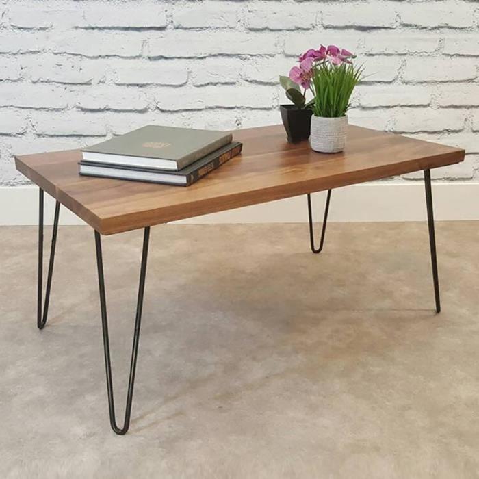 PIED DE TABLE 4Pcs Pieds de table en fer noir Accessoires de mai