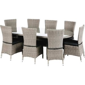 table jardin resine ovale achat vente pas cher. Black Bedroom Furniture Sets. Home Design Ideas