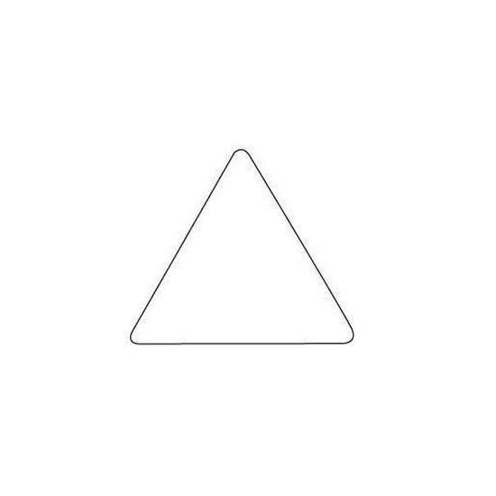 11495 Rouleau de 2832 Gommettes Triangulaires 20 mm Mauve