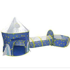 TENTE TUNNEL D'ACTIVITÉ 3 EN1 Tente de Jeu pour Bébé Piscine à boules avec
