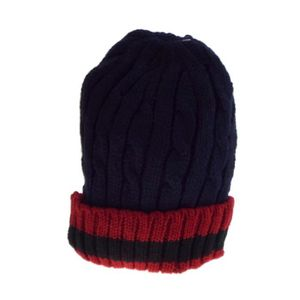 BONNET - CAGOULE 1 bonnet torsade marine, doublé polaire, mixte hom