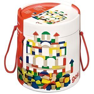 ASSEMBLAGE CONSTRUCTION Goki Baril cubes de construction bois 100 pièces