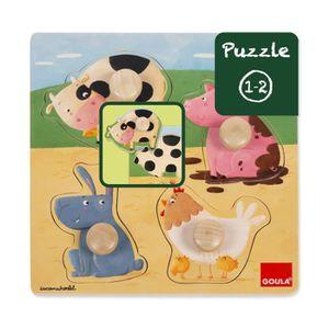 PUZZLE Puzzle encastrement en bois : Les animaux de la fe