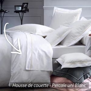 parure de drap percale achat vente parure de drap percale pas cher cdiscount. Black Bedroom Furniture Sets. Home Design Ideas