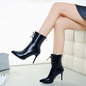 BOTTINE Femmes Gladiator Pumps Boots Pointed Toe Chaussure
