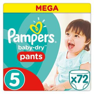 COUCHE Pampers Baby-Dry Pants Taille 5 - 12 à 17 kg - 72