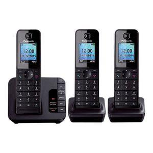 Téléphone fixe Panasonic KX-TGH223E Téléphone sans fil système de