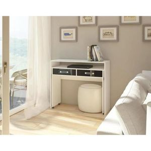 bureau design blanc laque achat vente pas cher. Black Bedroom Furniture Sets. Home Design Ideas