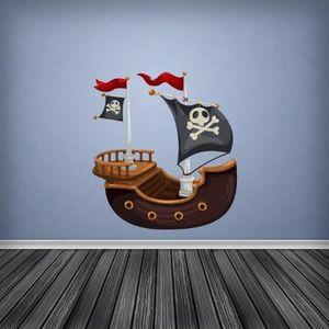 CHAMBRE COMPLÈTE  10898&Couleur Complète Pirate Bateau Chambre à Cou