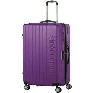 VALISE - BAGAGE SINEQUANONE Valise Trolley ABS Violet Foncé