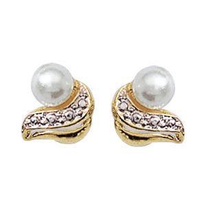 Majorica 18k plaqué or baroque fausses perles 12 mm Boucles d/'oreilles pendantes-Neuf