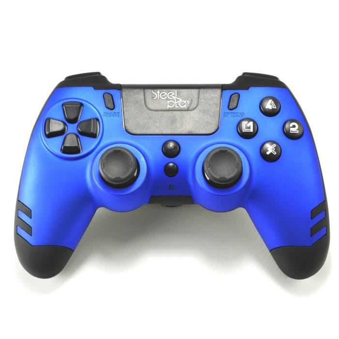 Manette sans fil SteelPlay Metaltech Bleue pour PS4