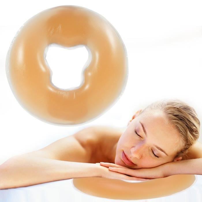 Oreiller en Silicone Doux pour Massage de Corps Visage Détendre Oreiller Coussin Soin de la Peau pour SPA Salon de Beauté